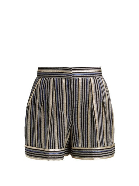 shorts striped shorts high navy