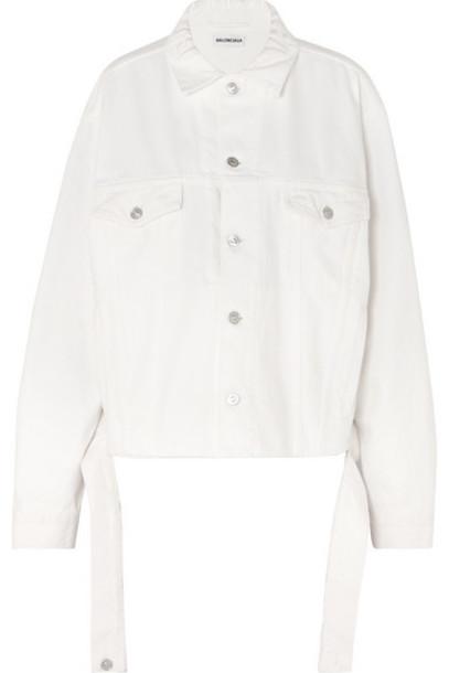 Balenciaga - Oversized Denim Jacket - White