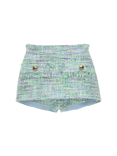 PUSHBUTTON Tweed Shorts in blue