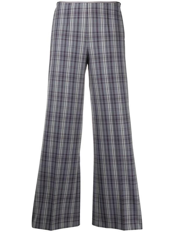 Alysi check print trousers in purple