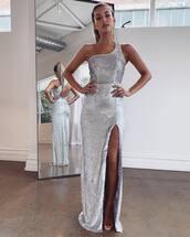 dress,silver dress