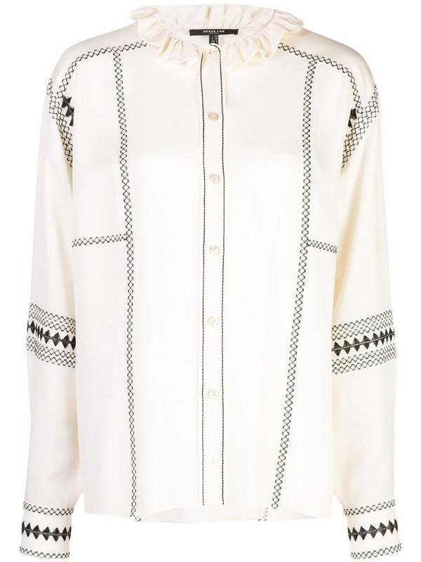 Derek Lam embroidered shirt in white