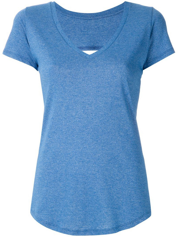 Track & Field cut out T-shirt in blue