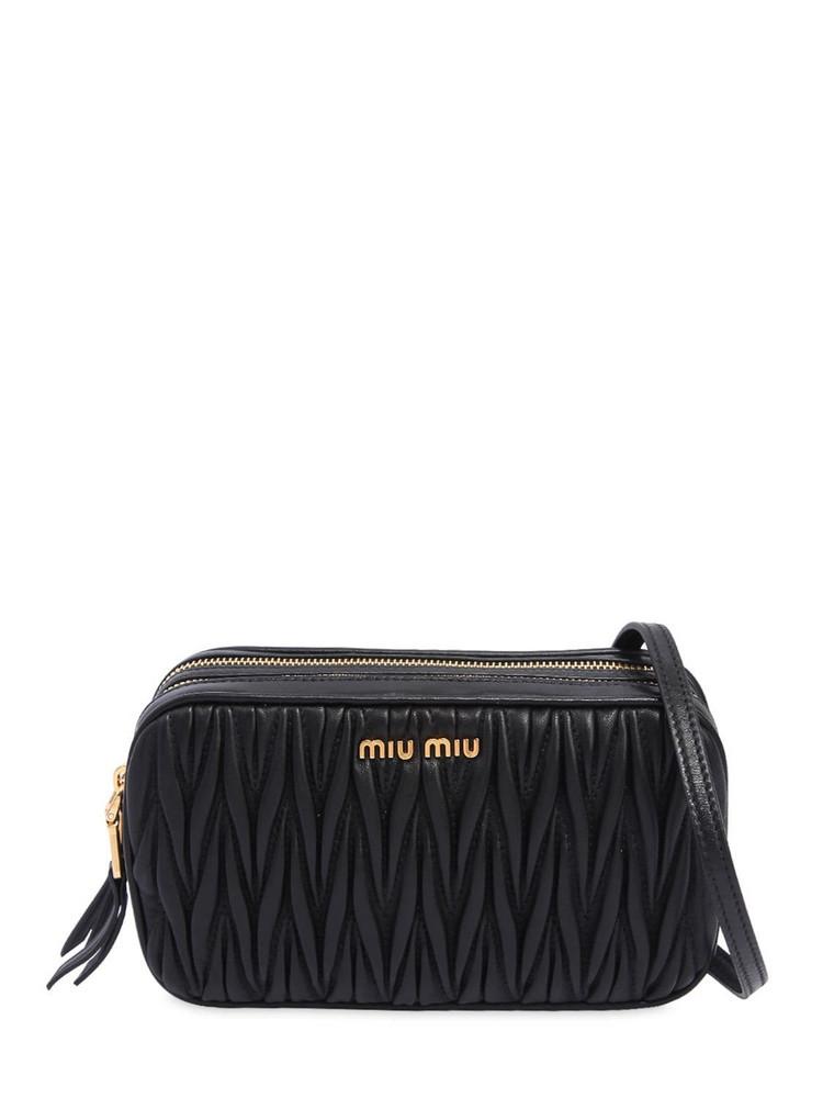 MIU MIU Quilted Leather Camera Bag in black