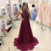 dress,wine color,long dress