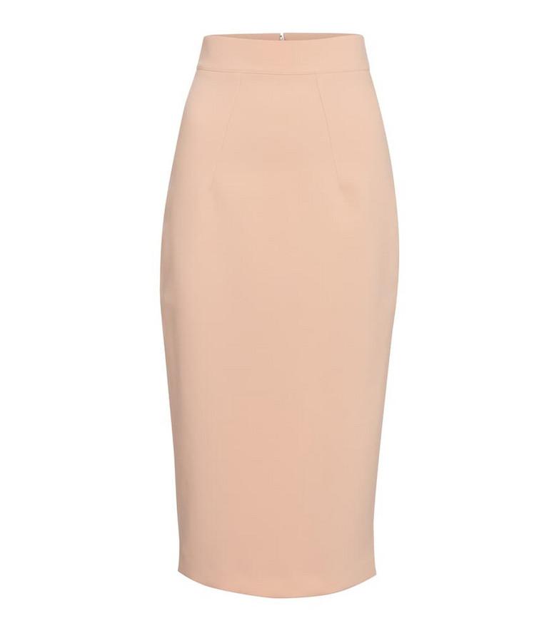 Safiyaa Hokoku stretch-crêpe pencil skirt in pink