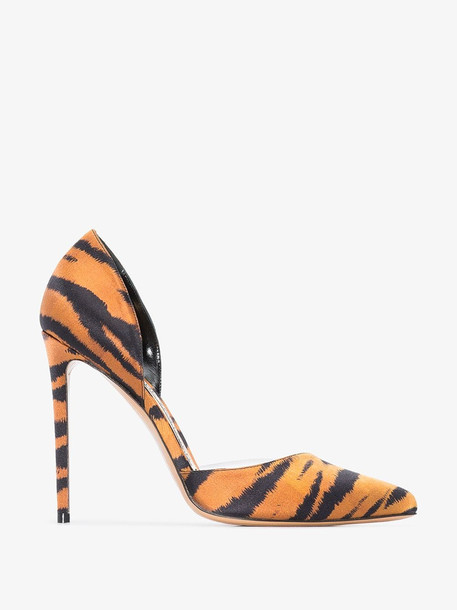 Alexandre Vauthier Angelina 110 tiger pumps in brown