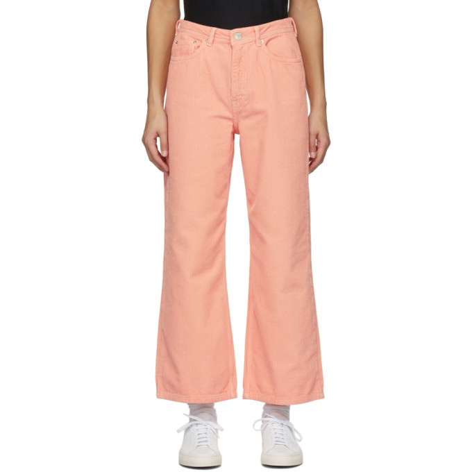 Won Hundred Pink Corduroy Kiri Trousers in peach