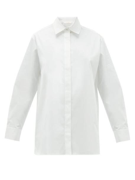 The Row - Big Sisea Cotton Blend Poplin Shirt - Womens - White