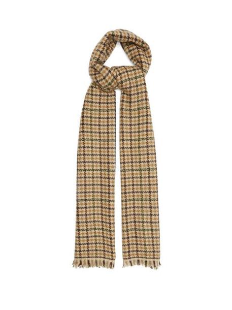 Isabel Marant - Dash Shepherd-check Wool-blend Twill Scarf - Womens - Beige