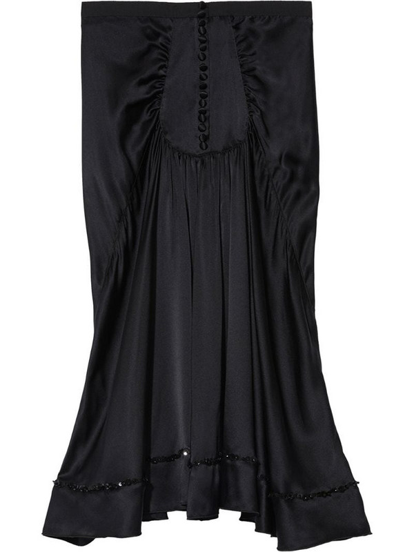 Marc Jacobs The 40's silk skirt in black