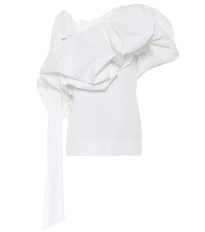 Valentino Cotton-blend top in white