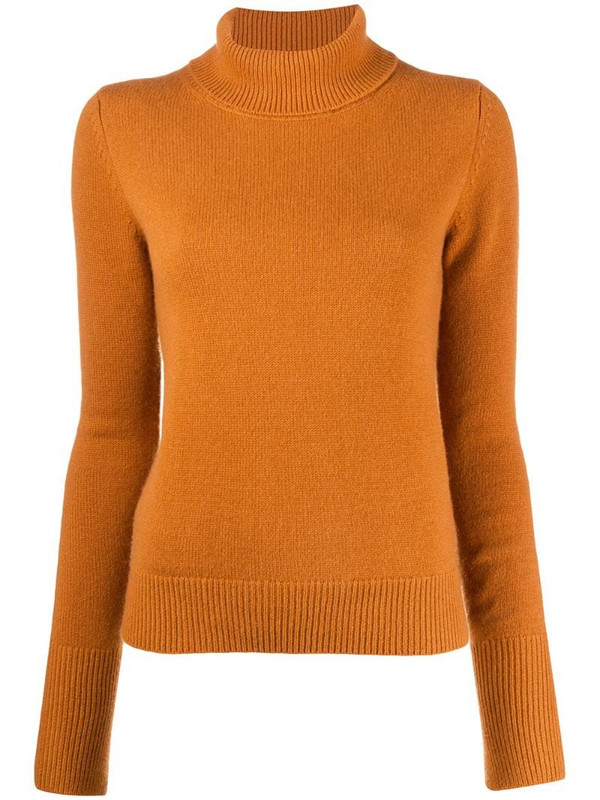 Joseph roll-neck cashmere jumper in brown