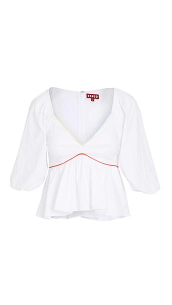 STAUD Dani Top in white / multi