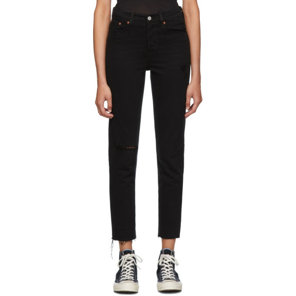 Levis Black Wedgie Jeans