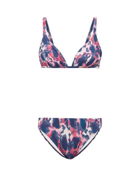Thorsun - Hailey Tie Dye Print Bikini - Womens - Pink Multi