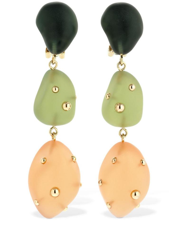 VANDA JACINTHO Artsy Clip-on Resin Pendant Earrings