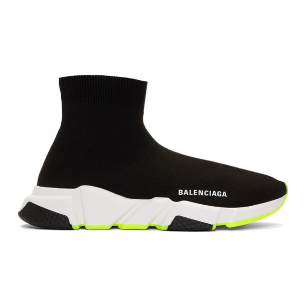 Balenciaga Black and Yellow Speed Sneakers