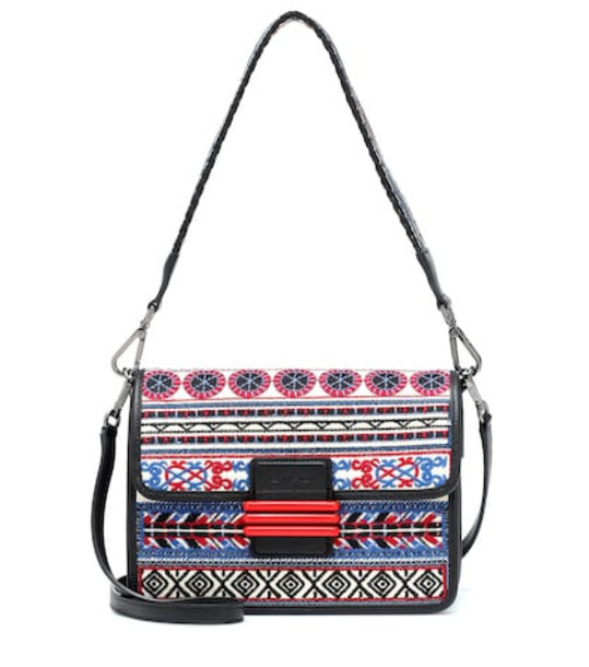 Etro Rainbow raffia shoulder bag