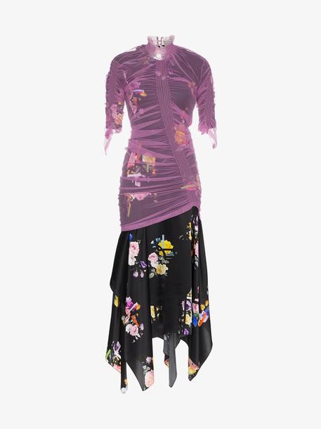 Preen By Thornton Bregazzi lynn floral print tulle dress