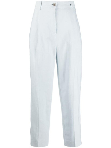 Acne Studios pleated straight-leg trousers in blue