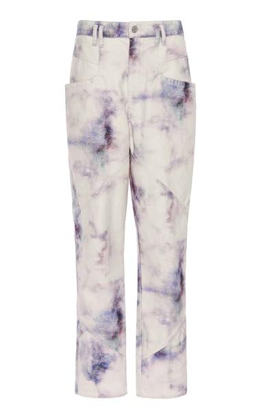 Isabel Marant Eloisa Low-Rise Cotton Pants Size: 32 in multi