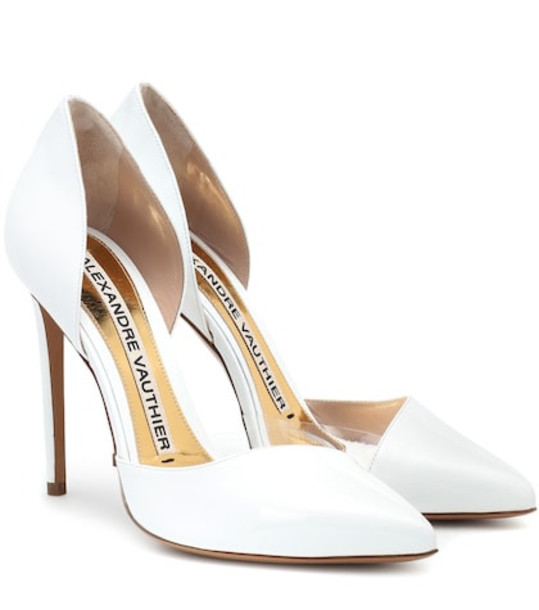 Alexandre Vauthier Angelina patent leather pumps in white
