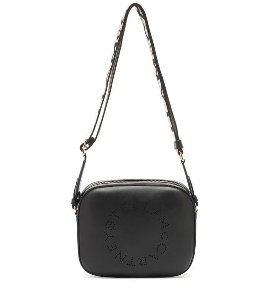 Stella McCartney Logo Mini Camera crossbody bag in black