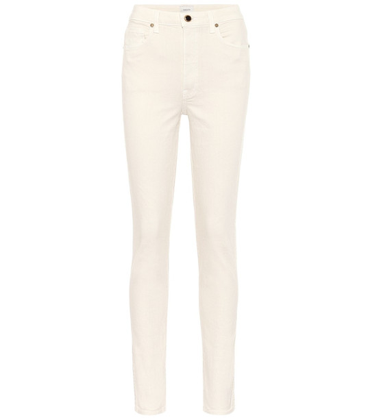 Khaite Vanessa high-rise skinny jeans in white