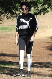 sweater,hoodie,celebrity,selena gomez,leggings,workout leggings,sportswear
