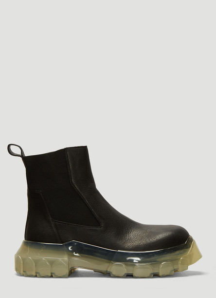 Rick Owens Bozo Tractor Beetle Boots in Black size EU - 36