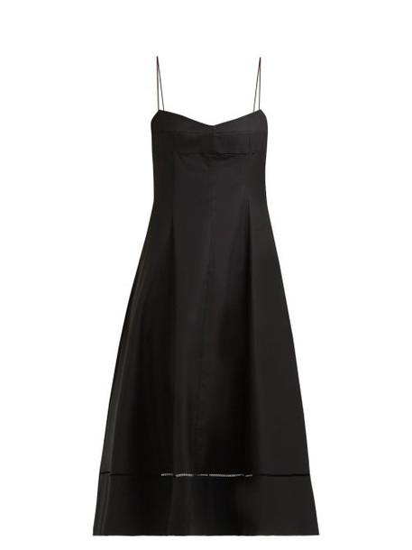 Khaite - Isabella Sleeveless Cotton Twill Dress - Womens - Black