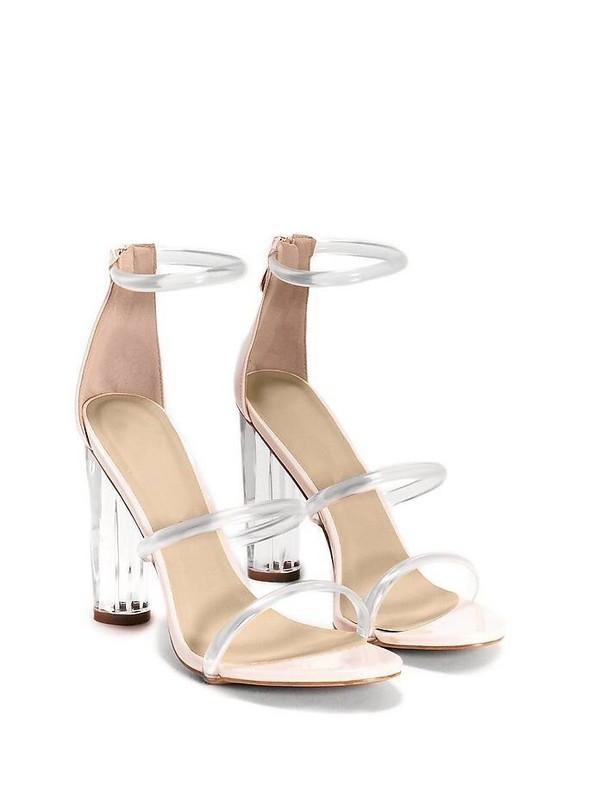 shoes heels transparent