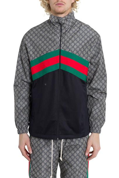 Gucci Oversize Technical Jersey Jacket Grey