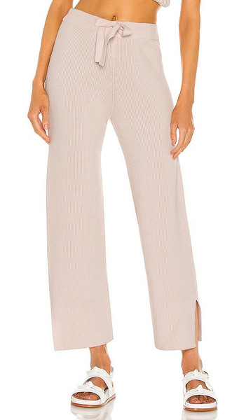 Weekend Stories Imogen Lounge Pant in Blush in peach