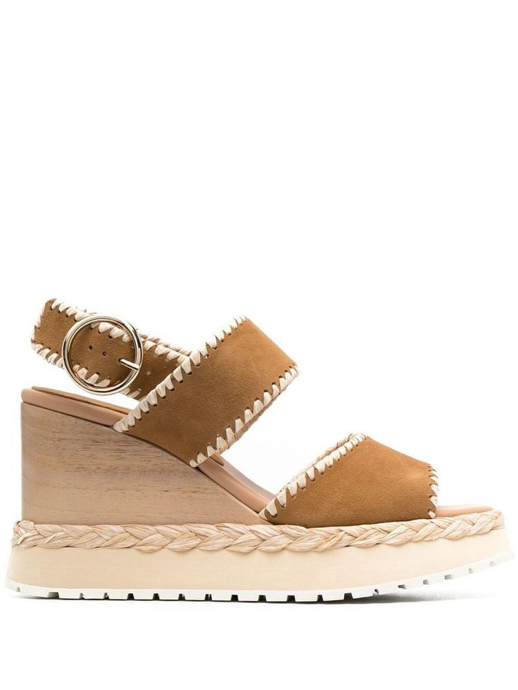 Paloma Barceló Paloma Barceló platform buckle-fastening sandals - Brown