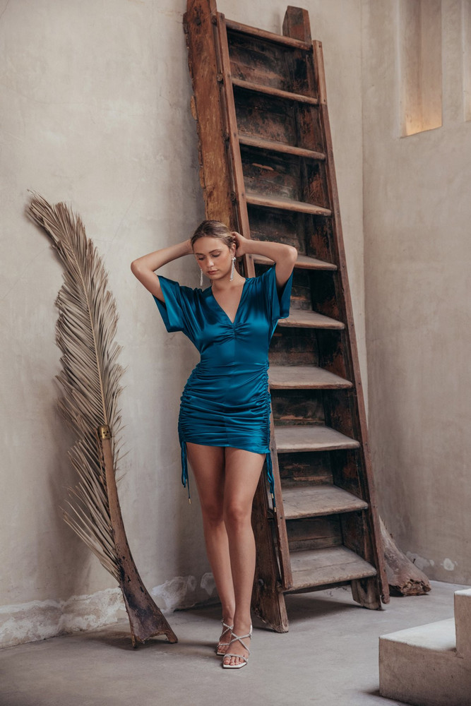 Cult Gaia Fiona Dress - Teal                                                                                               $498.00
