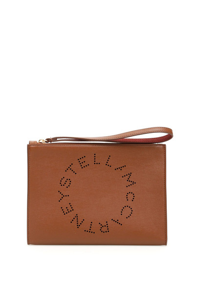 Stella McCartney Logo Flap Zip Clutch