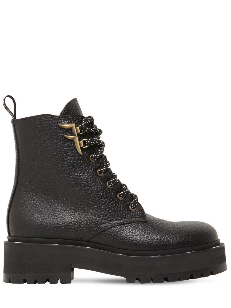 FENDI 50mm Freedom Grained Leather Boots in black
