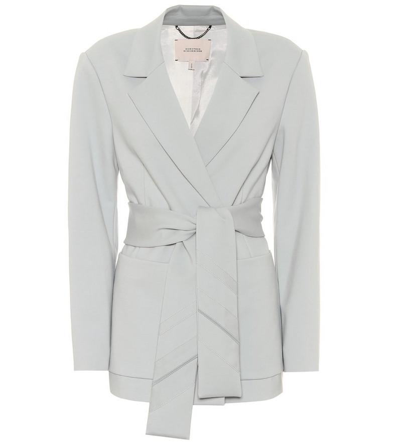 Dorothee Schumacher Exclusive to Mytheresa – Sash-belted blazer in blue