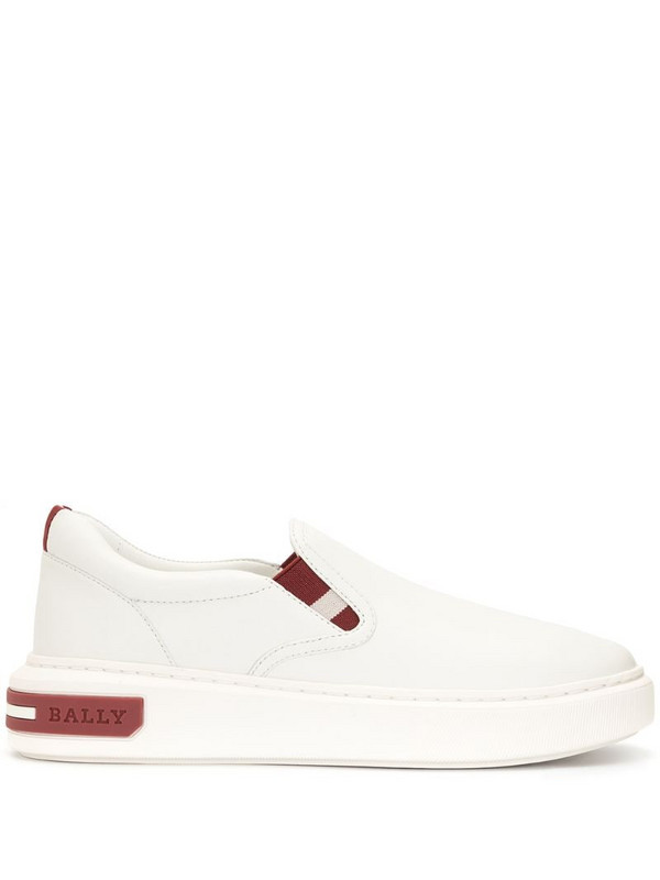 Bally Mya leather trainers in white