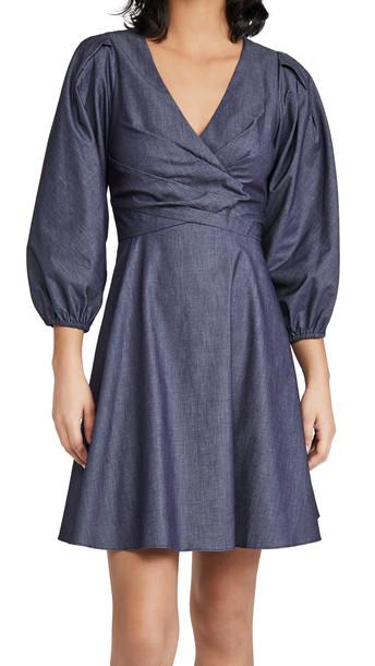 Shoshanna Kiora Dress in denim / denim