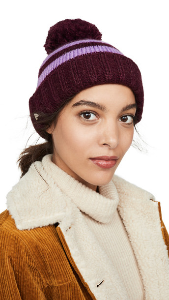 Kate Spade New York Heritage Stripe Beanie Hat in midnight
