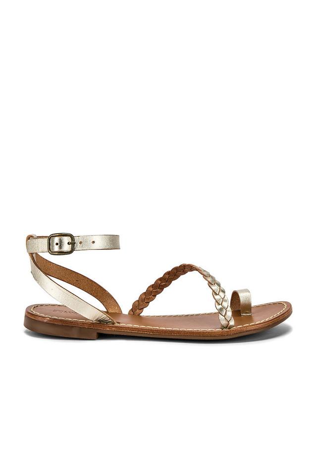 Soludos Madrid Sandal in gold / metallic