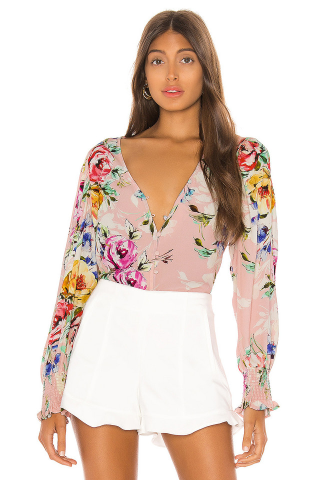 Yumi Kim Check Mate Blouse in pink