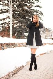 a lonestar state of southern,blogger,dress,sweater,coat,shoes,ear cuff,winter outfits