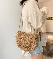 bag,natural,shoulder bag,boho,boho chic,boho bag,bohemian
