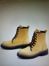 shoes,yellow,yellow shoes,boots,combat boots