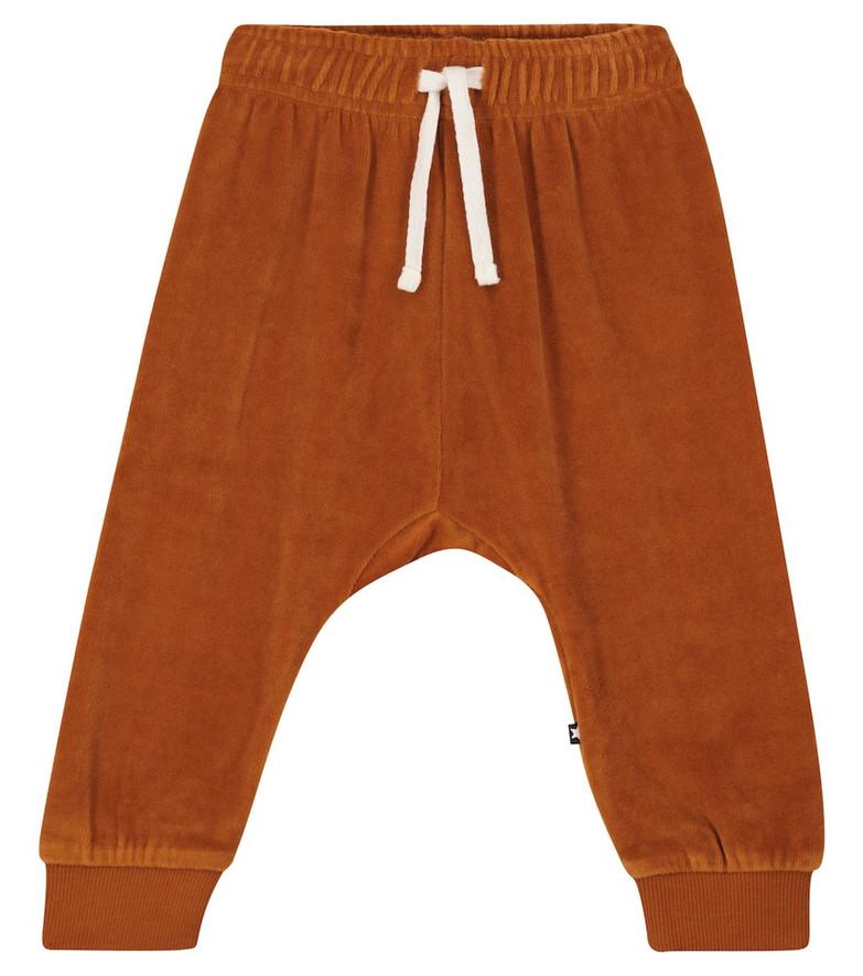 Molo Sigo velvet sweatpants in brown
