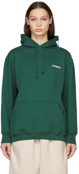 VETEMENTS SSENSE Exclusive Green Logo Hoodie